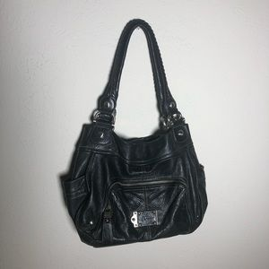 B. Makowsky Black Leather Hobo Bag